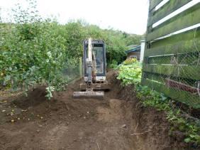 Levelling a garden