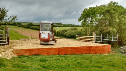 Building A jump for the Pony Club cross country