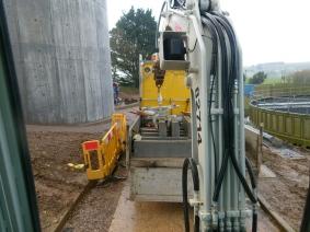 Using a Kerb Grab at Kingsbridge Sewage works