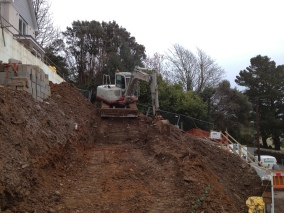 Earthworks at Salcombe